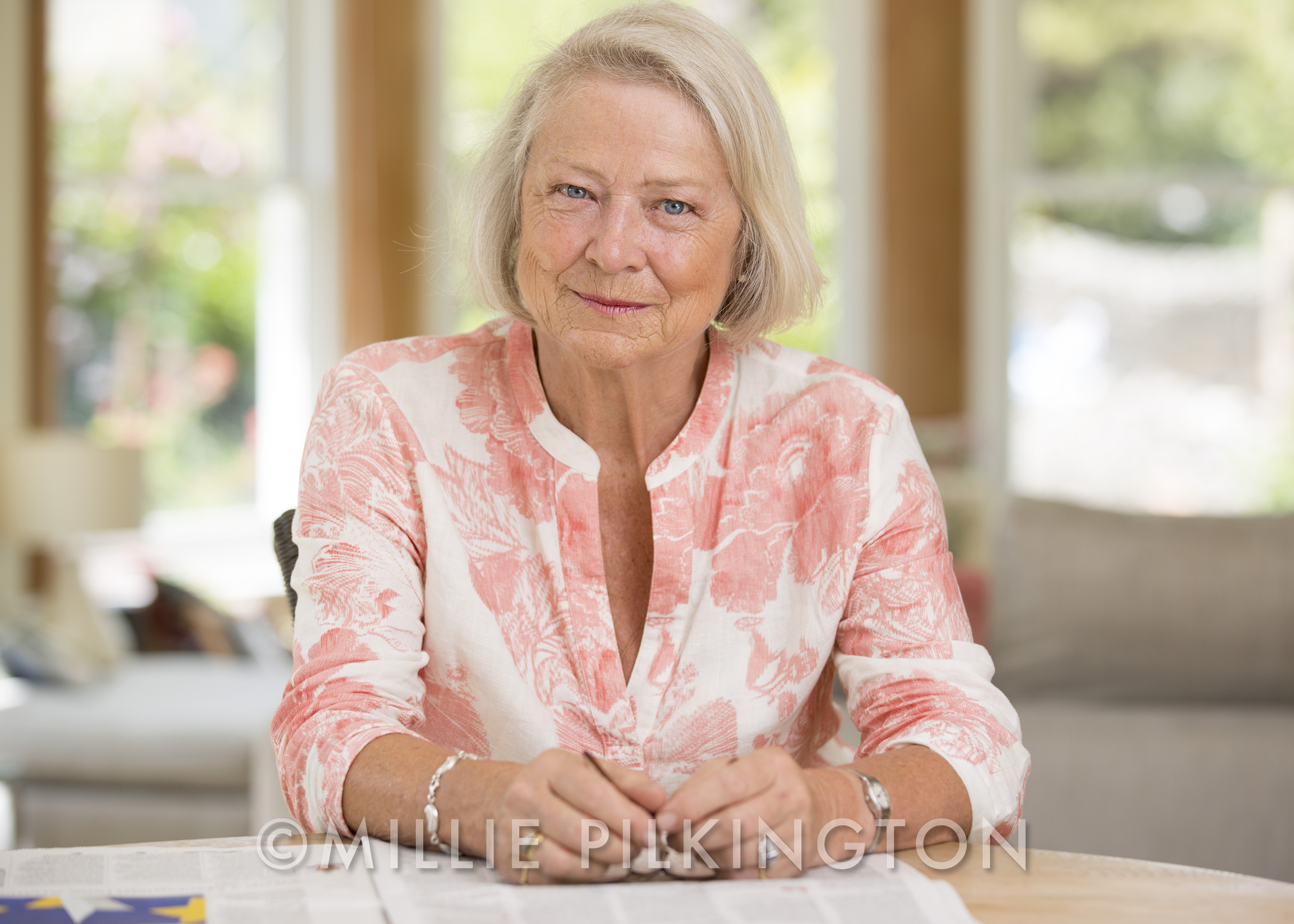 Kate Adie by Dorset photographer Millie Pilkington